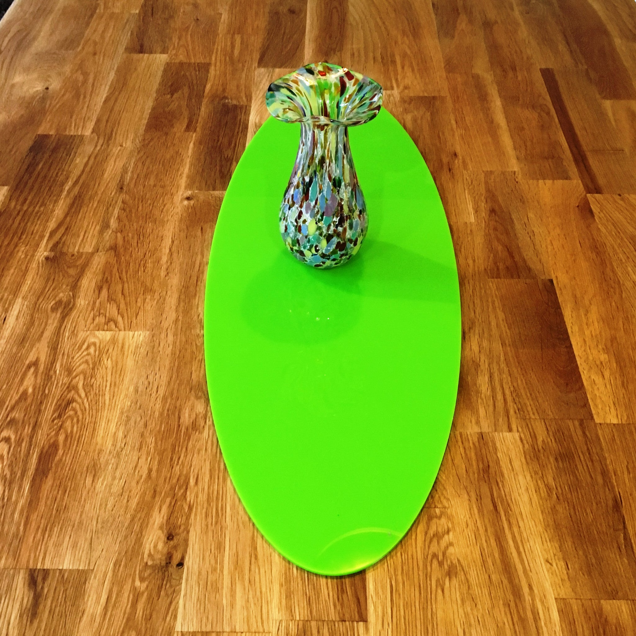 Lime Green Oval Acrylic Table Runner