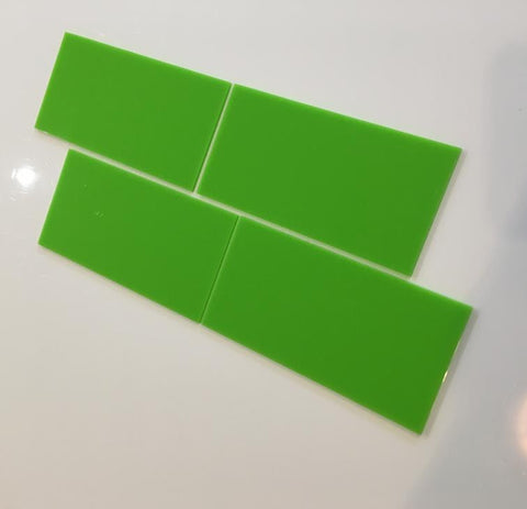 Rectangular Tiles - Lime Green