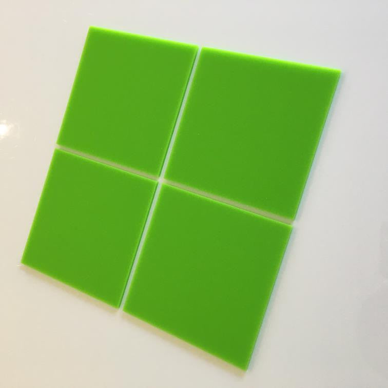 Square Tiles - Lime Green