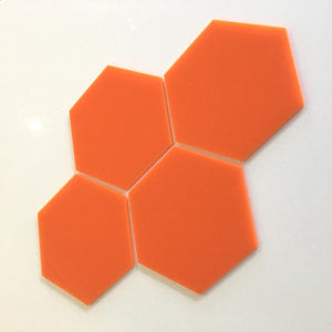 Hexagon Tiles - Orange
