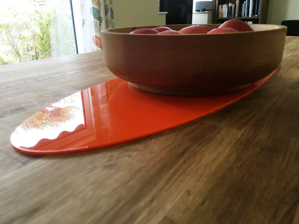 Orange Oval Acrylic Table Runner
