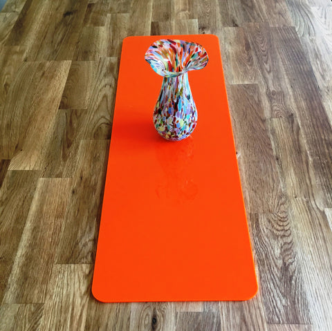 Orange Rectangular Acrylic Table Runner