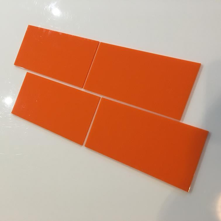 Rectangular Tiles - Orange