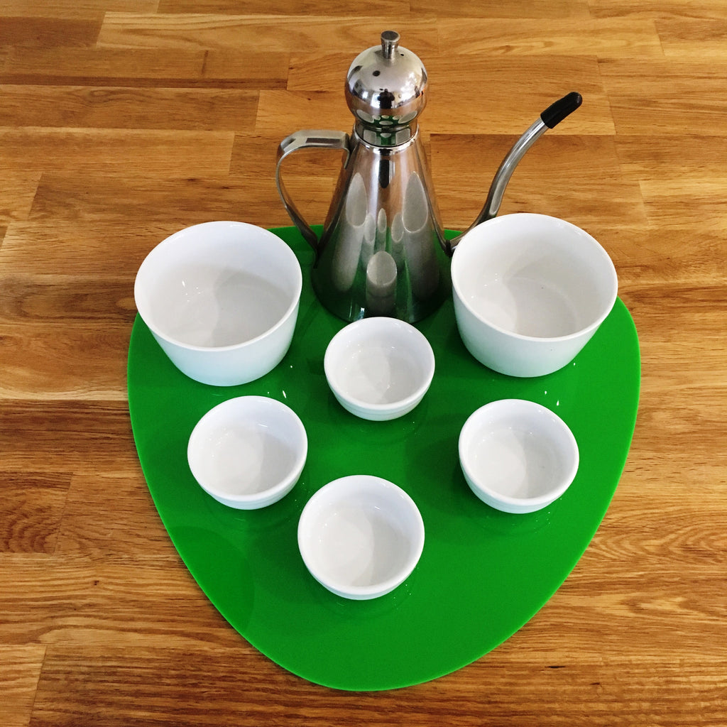Pebble Serving Mat/Table Protector - Bright Green Gloss