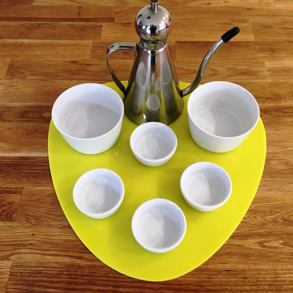 Pebble Serving Mat/Table Protector - Yellow Gloss