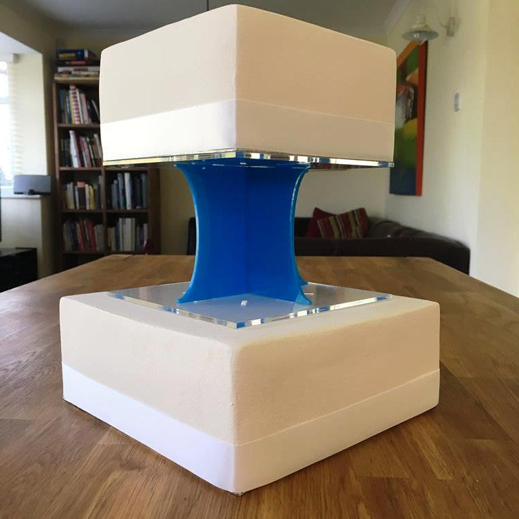 Cake Pillars Square Solid - Bright Blue