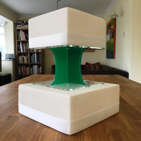 Cake Pillars Square Solid - Green