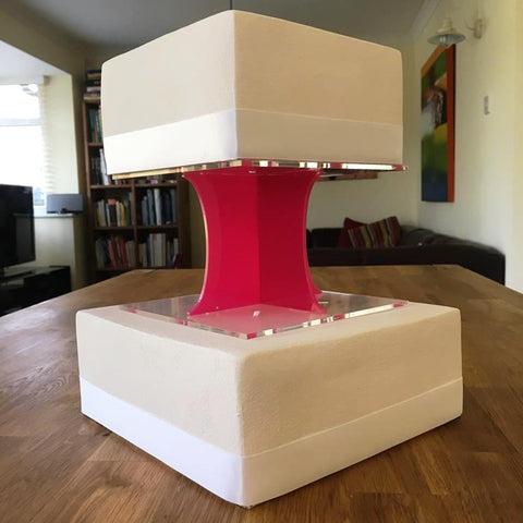 Cake Pillars Square Solid - Pink