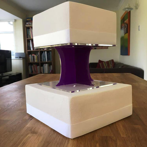 Cake Pillars Square Solid - Purple