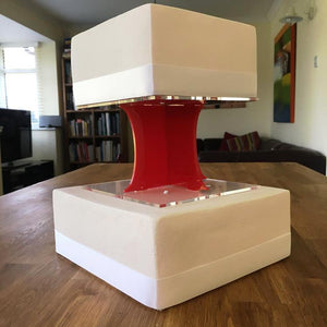 Cake Pillars Square Solid - Red