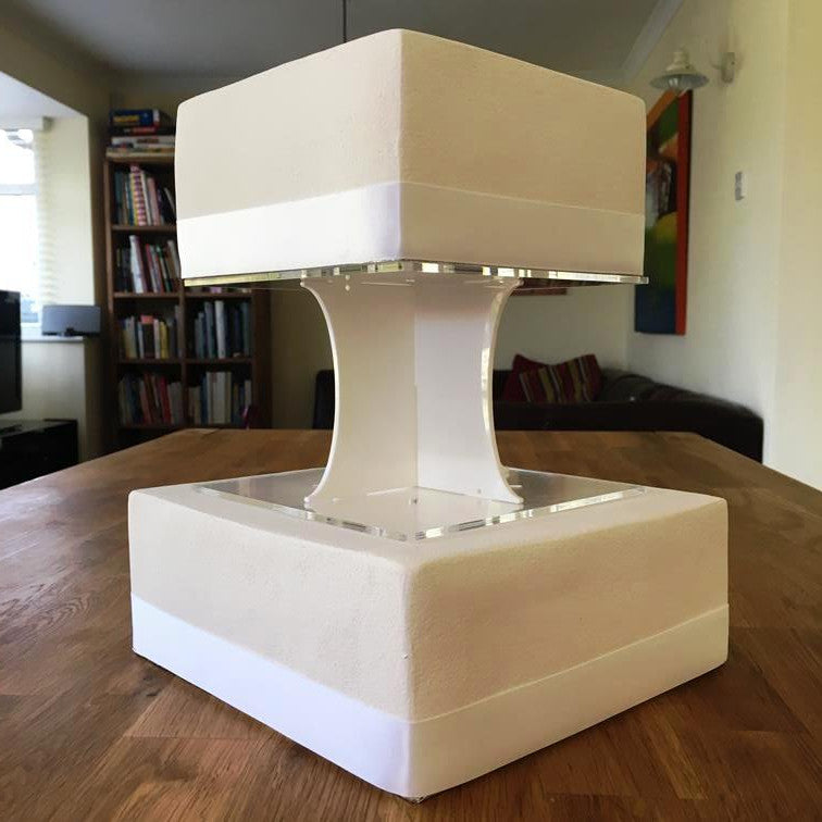 Cake Pillars Square Solid - White