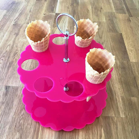 Ice Cream Cone Stand - Pink