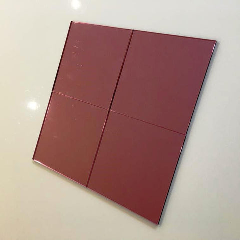Square Tiles - Pink Mirror