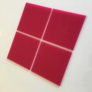 Square Tiles - Pink