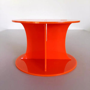 Classic Round Wedding/Party Cake Separator - Orange