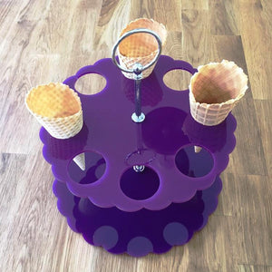 Ice Cream Cone Stand - Purple