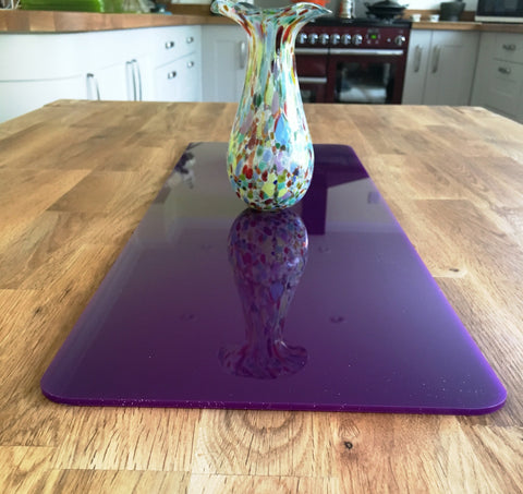Purple Rectangular Acrylic Table Runner