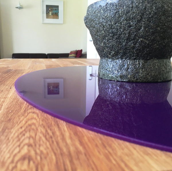 Oval Worktop Saver - Purple