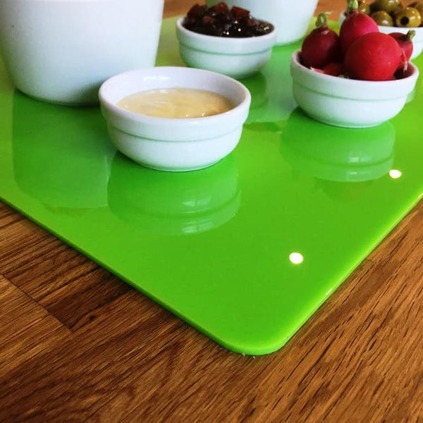 Rectangular Serving Mat/Table Protector - Lime Green Gloss