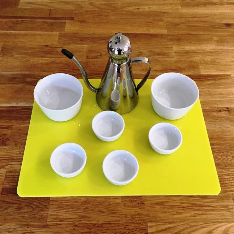 Rectangular Serving Mat/Table Protector - Yellow Gloss
