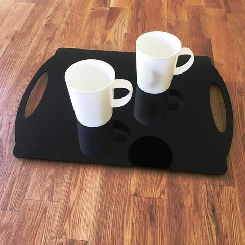 Rectangular Flat Serving Tray - Black
