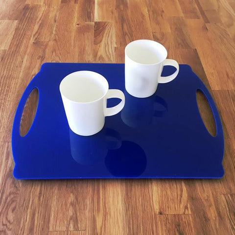 Rectangular Flat Serving Tray - Blue