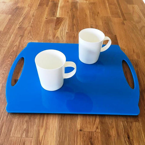 Rectangular Flat Serving Tray - Bright Blue