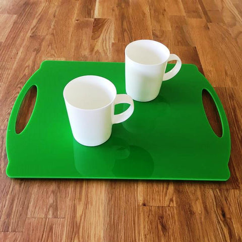 Rectangular Flat Serving Tray - Bright Green