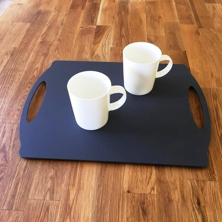 Rectangular Flat Serving Tray - Graphite Grey
