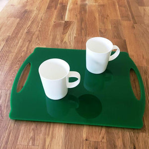 Rectangular Flat Serving Tray - Green