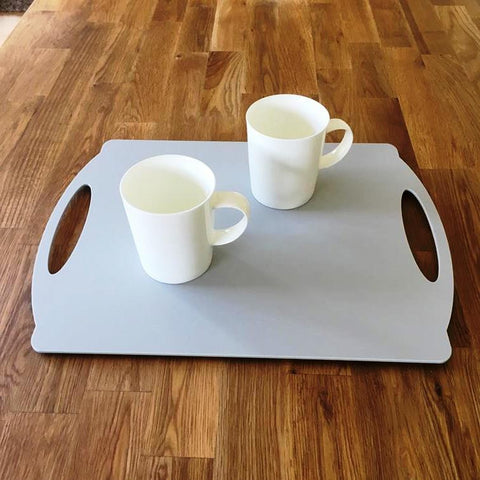 Rectangular Flat Serving Tray - Light Grey