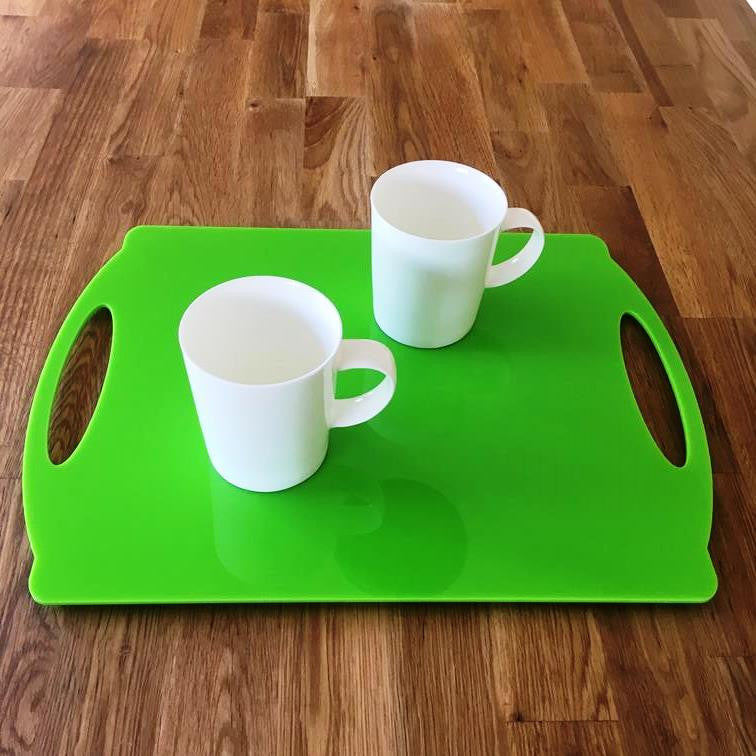 Rectangular Flat Serving Tray - Lime Green