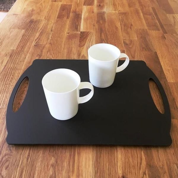 Rectangular Flat Serving Tray - Mocha Brown