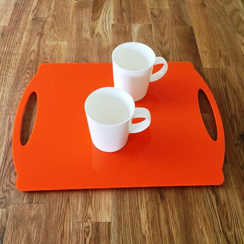 Rectangular Flat Serving Tray - Orange