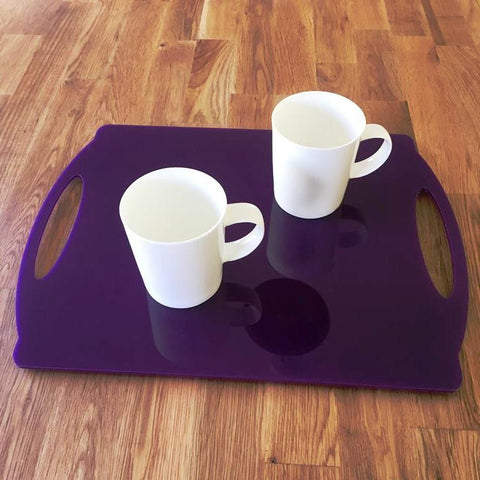 Rectangular Flat Serving Tray - Purple