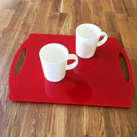 Rectangular Flat Serving Tray - Red