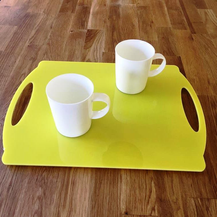 Rectangular Flat Serving Tray - Yellow