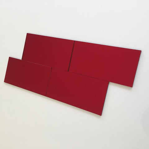 Rectangular Tiles - Red Mirror