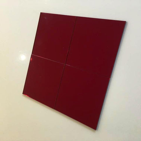 Square Tiles - Red Mirror