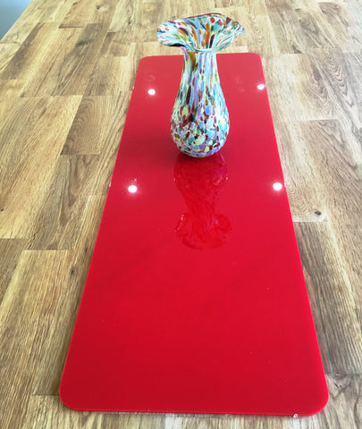 Red Rectangular Acrylic Table Runner