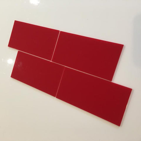 Rectangular Tiles - Red