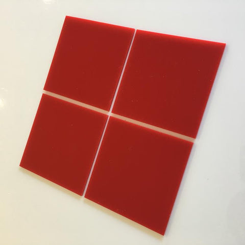 Square Tiles - Red