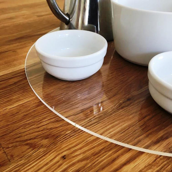 Round Serving Mat/Table Protector - Clear