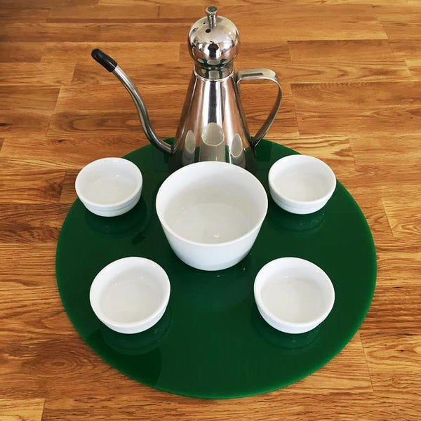 Round Serving Mat/Table Protector - Green Gloss