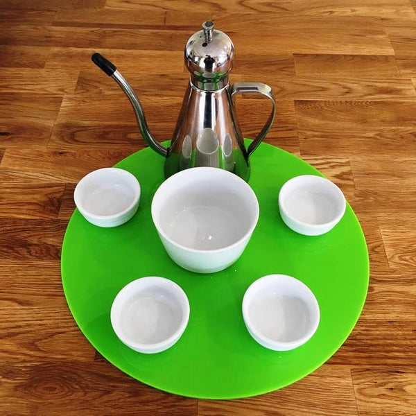 Round Serving Mat/Table Protector - Lime Green Gloss