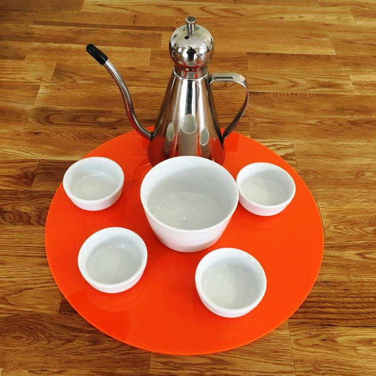 Round Serving Mat/Table Protector - Orange Gloss