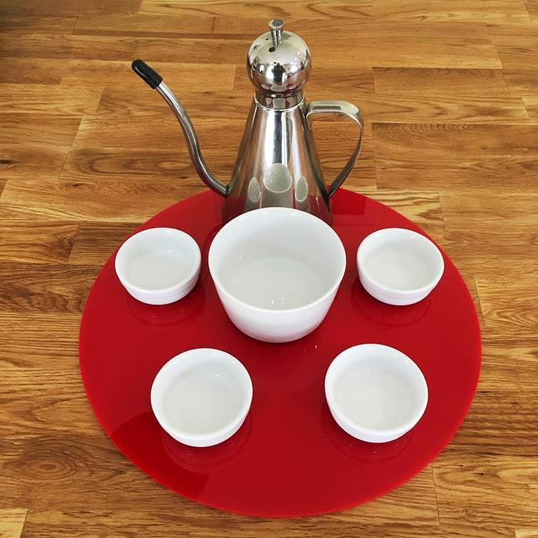 Round Serving Mat/Table Protector - Red Gloss