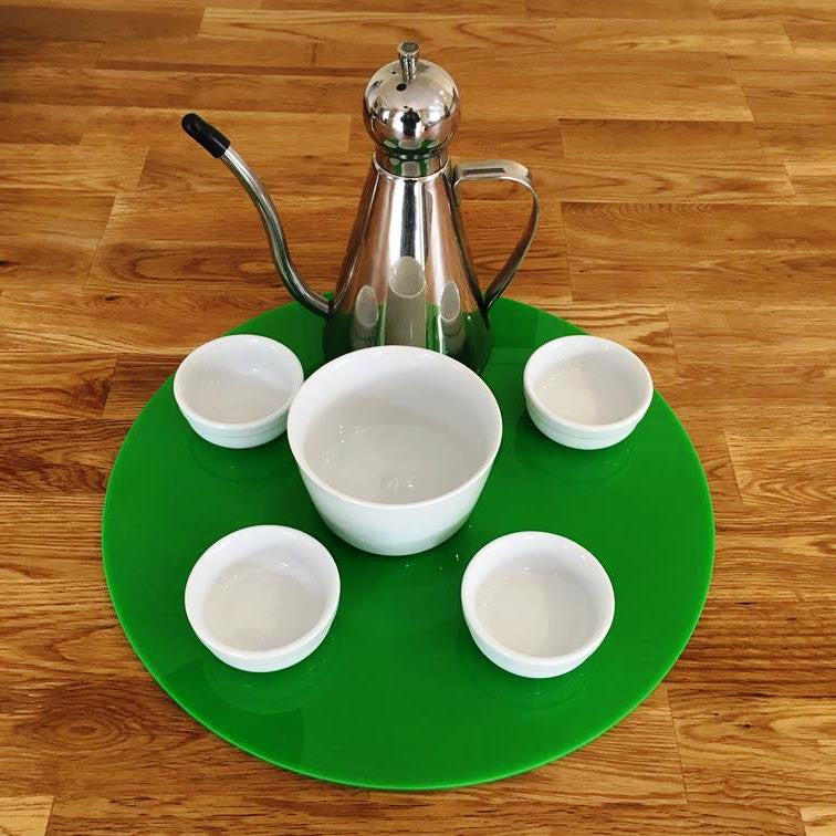 Round Serving Mat/Table Protector - Bright Green Gloss