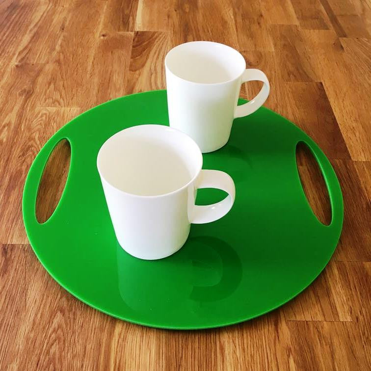 Round Flat Serving Tray - Bright Green