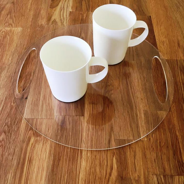 Round Flat Serving Tray - Clear